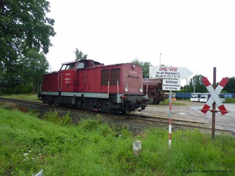 V 100 Ost der Lappwaldbahn in Winsen Süd