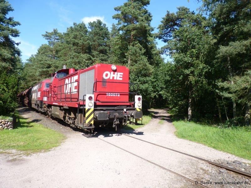 OHE 160073 und 20086 in Doppeltraktion in Luhdorf