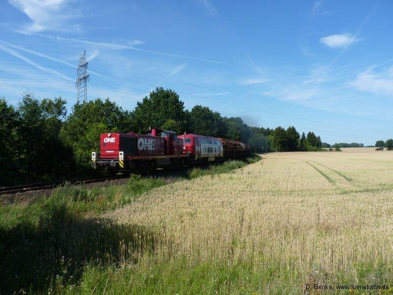 OHE 160073 und 20086 kurz vor Lübberstedt