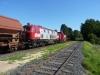 OHE 160073 und 20086 durchfahren den Bahnhof Salzhausen